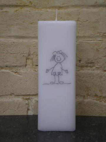 doopkaars tekening meisje